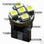 1 ampoule à 5 led smd blanc xenon en culot plat w5w